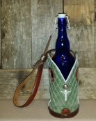 Green Cowboy boot Wine Tote