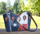 #129-17 Texas western hand bag made in USA