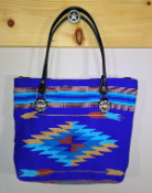 418 Indian Chief Blanket Bag Electric BLue