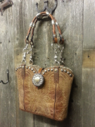 860-14 Rustic Brown western purse