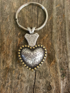 Heart Concho key chain
