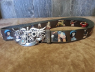 Rustic cowgirl belt with Swarovski cross buckle