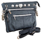 Cross Body Leather Zippered Hipster Bag