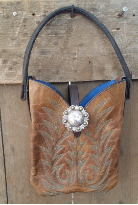 The Lil' cowboy boot bag Rustic Brown
