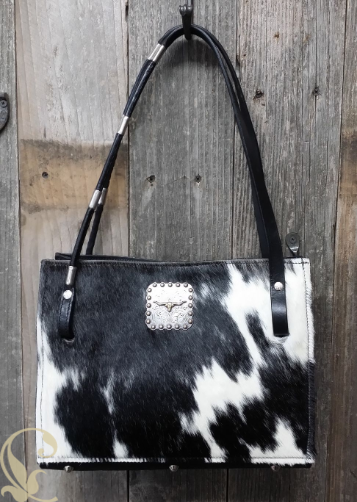 Cowhide Bags With Lariat Rope Handles Or Add Horse Reins And A Concho