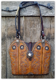 #108-17 Dark  Tan Western bag