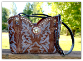 #131-17 Rich Brown leather western handbag