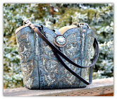 #144-17 Denim Blue Western Bag