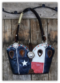 #152-17 Patriotic Cowboy boot purse