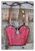 #154-17 Rodeo Red cowboy boot Purse