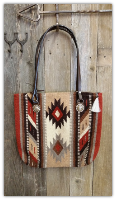 203 Saddle blanket bag, Brown, tan, burnt orange