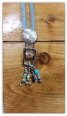#101 Buckle Necklace guitar and bird charm
