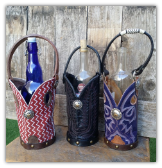 Custom Cowboy boot Wine Tote