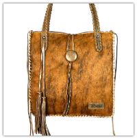 Brindle Cowhide Purse, hand laced