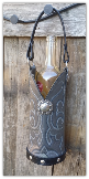 Grey Cowboy boot Wine Tote