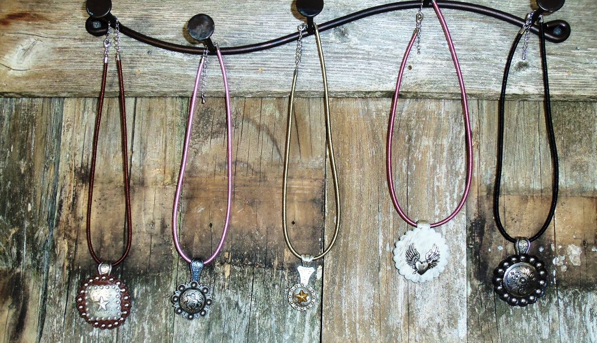 Cable and cord concho necklaces