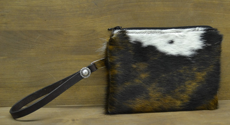 cowhide bag clutch
