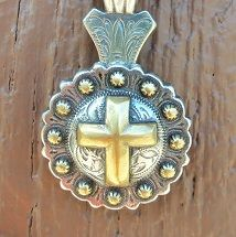 Cross concho pendant