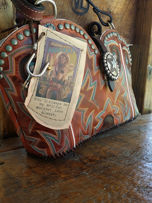 custom cowboy boot purse for mom