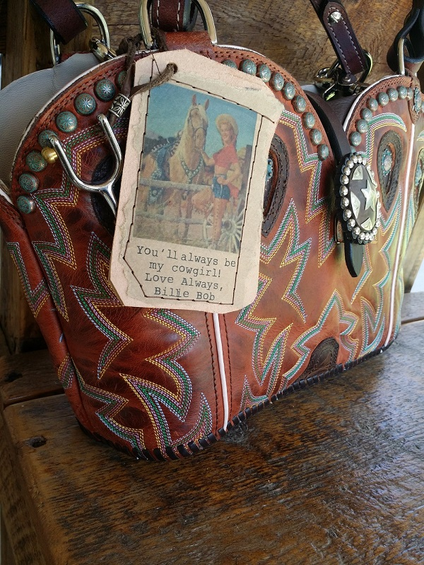 Mothers day promo cowboy boot purse
