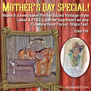 Mothers day special cowboy boot purse