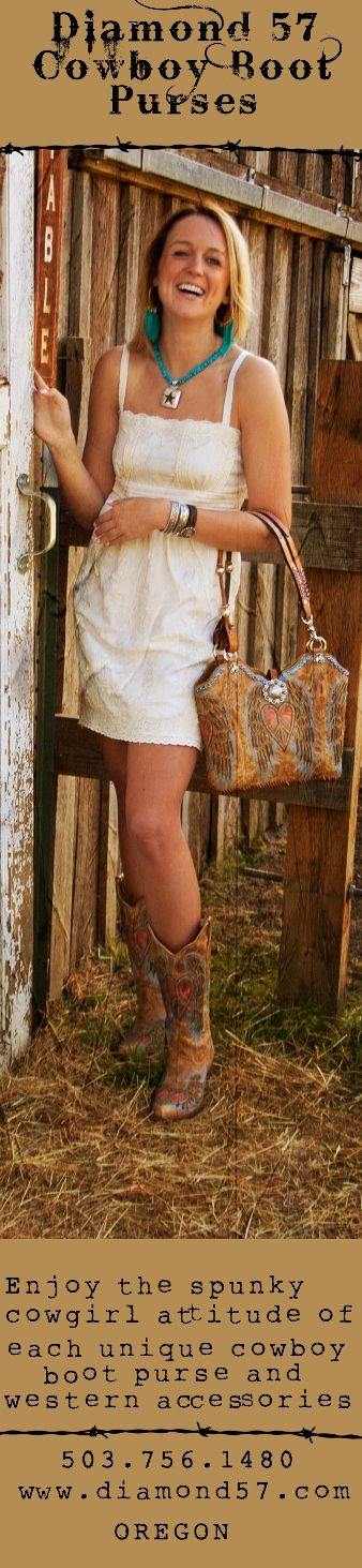 Western purses, cowboy boots, True West