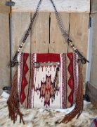 205z Saddle Blanket bag with fringe horse tack