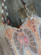 850-14 Corral peace heart cowboy boot purse