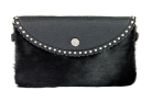 Cowhide Clutch bag Black hide