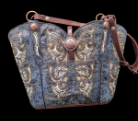 #155-20 Denim blue  Western Hand crafted leather bag