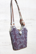 170-19 Royal Purple Cowboy Boot Bag