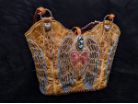 #182-20 Western purse made from peace, heart wings  corral cowboy boots