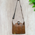 #191-20 Brown Western Hand crafted leather bag