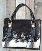 Black and White Cowhide Hair on purse