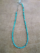 Tiny round turquoise necklace
