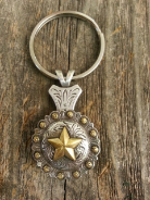 Texas Star Concho key chain