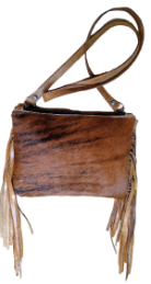 cc103 Cowhide cross body bag with fringe The Carter Bag