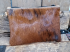 cc307  Brindle Cowhide cross body bag Made in USA