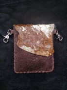 Tooled leather, Brown and Cowhide Leather hipster trigger bag