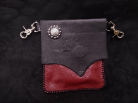 Black and RED Leather hipster trigger bag