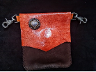 Brown and Orange with a heart concho Leather hipster trigger bag