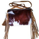 cc101 Cowhide cross body bag with fringe The Carter Bag