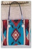 202 Saddle blanket bag, Turquoise Diamond