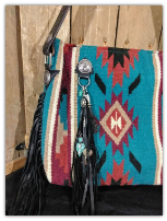 202a Custom Saddle Blanket Bag with leather fringe