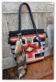 506 Saddle blanket bag, Sunset Colors