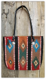 107 Stripe Southwest Saddle Blanket Bag