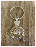 Horse Shoe Concho key chain