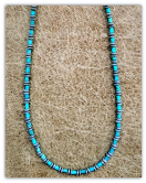 Tiny turquoise with sterling silver necklace