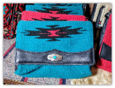 103 Saddle blanket clutch bag, Turquoise