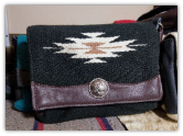 105 Saddle blanket clutch bag, Black